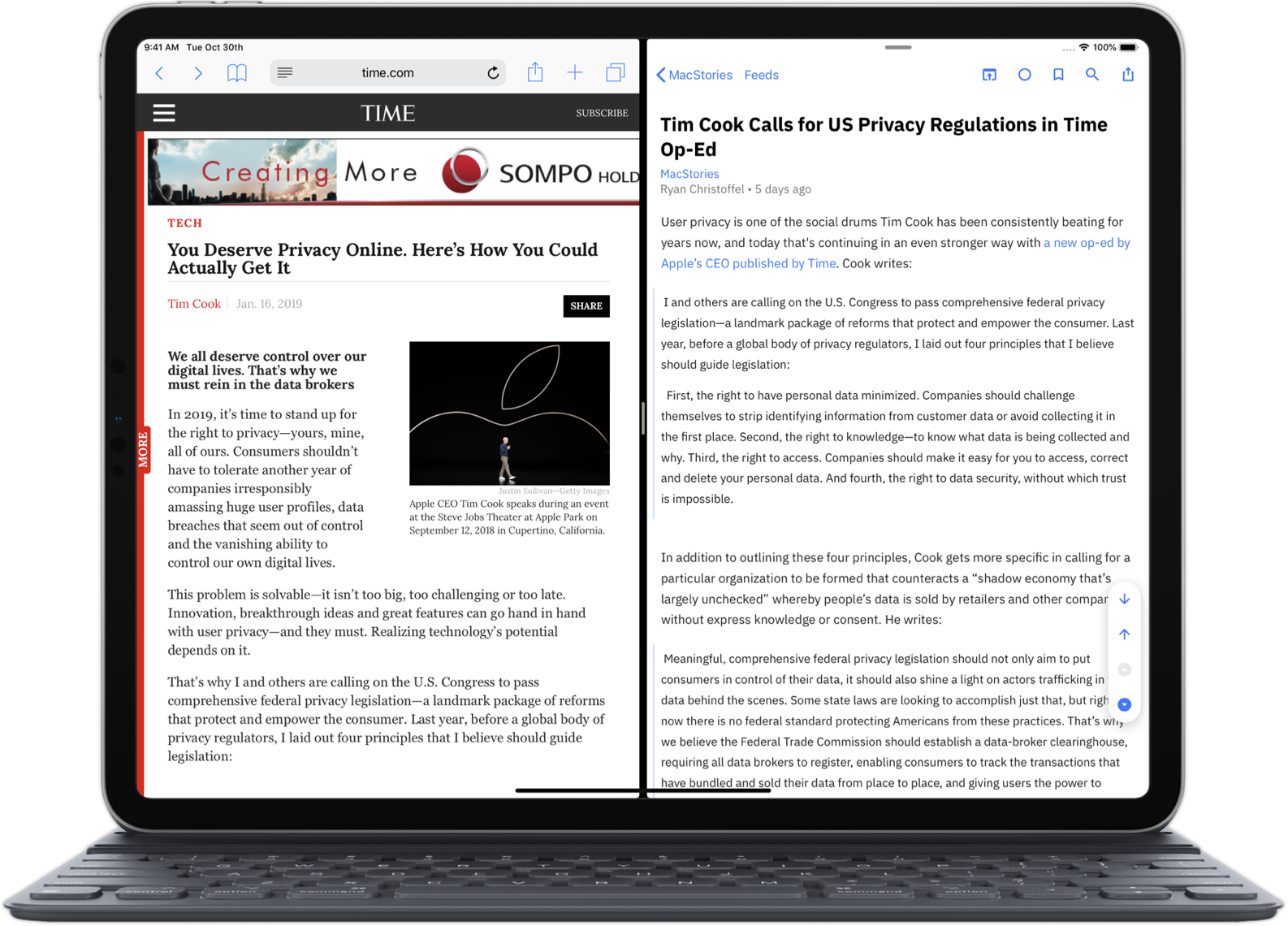 Elytra's Article Reader Interface