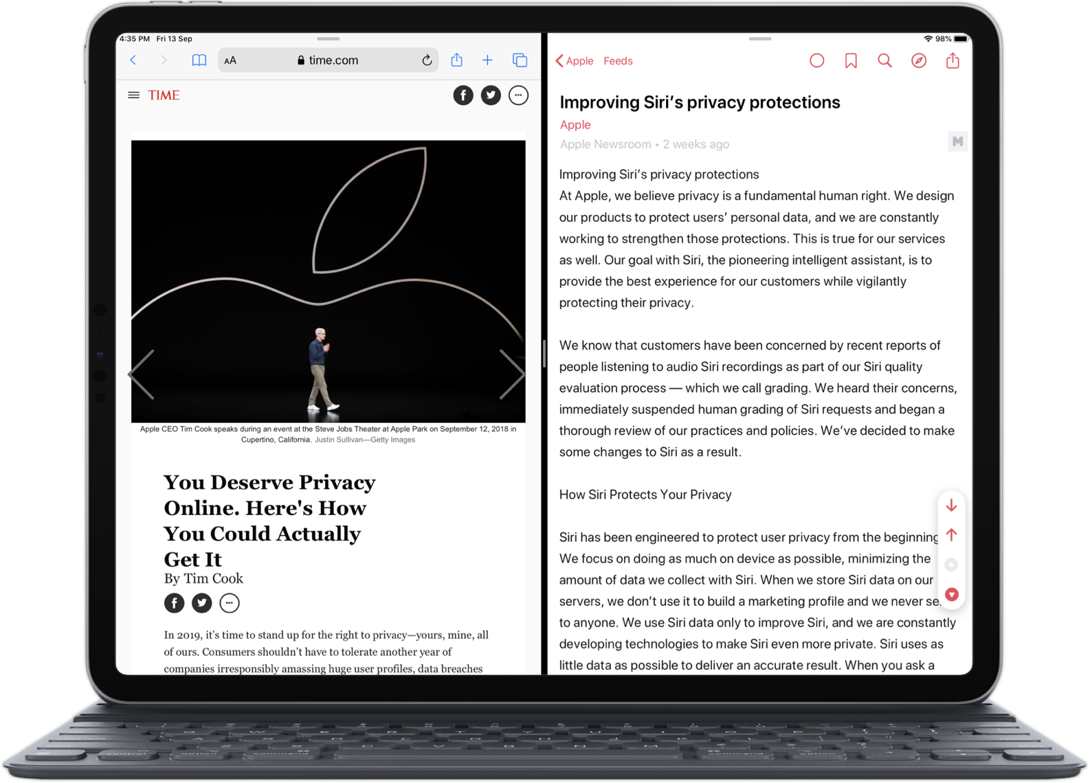 Elytra's Article Reader Interface