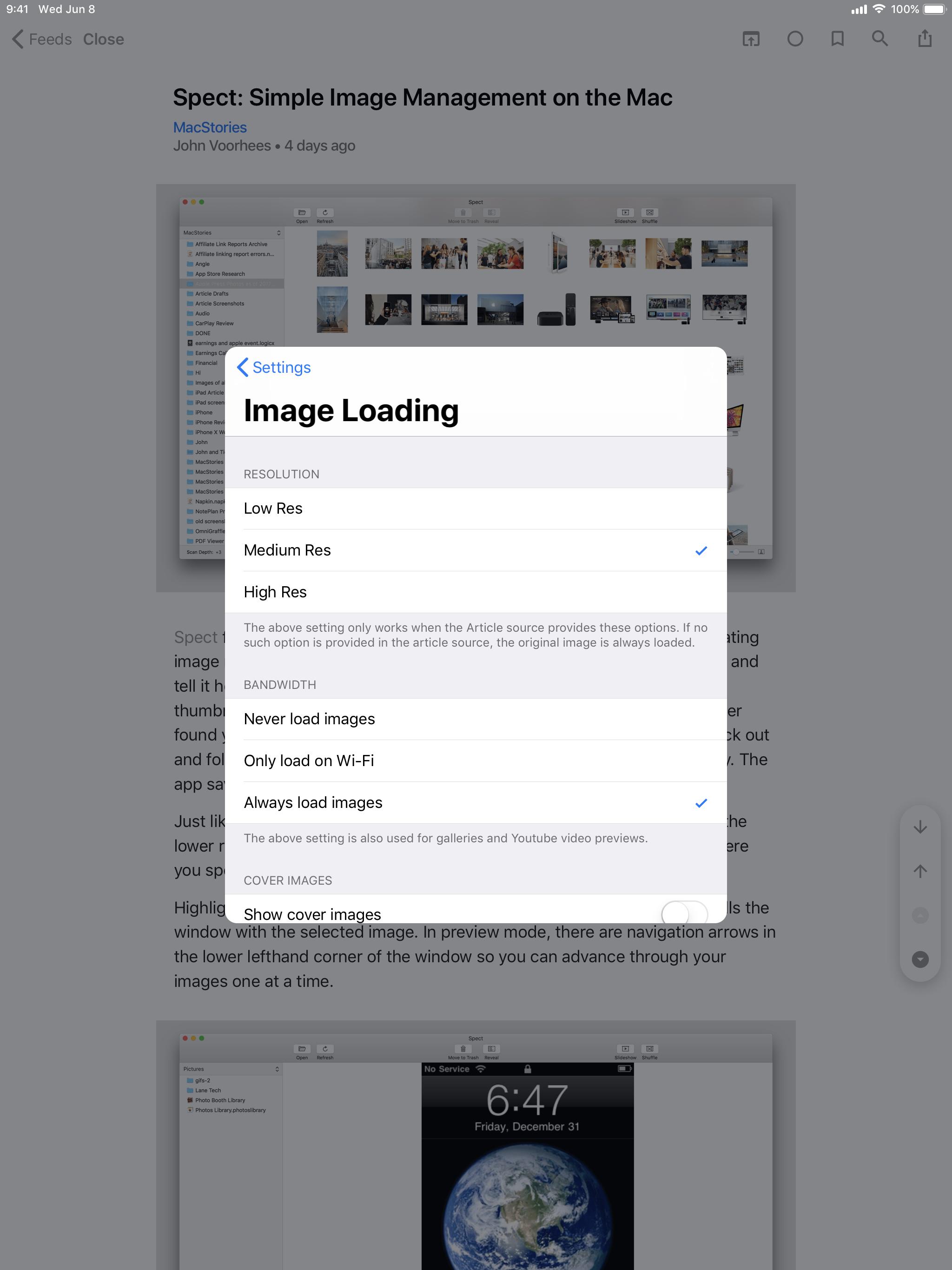 Elytra's Image Loading Settings